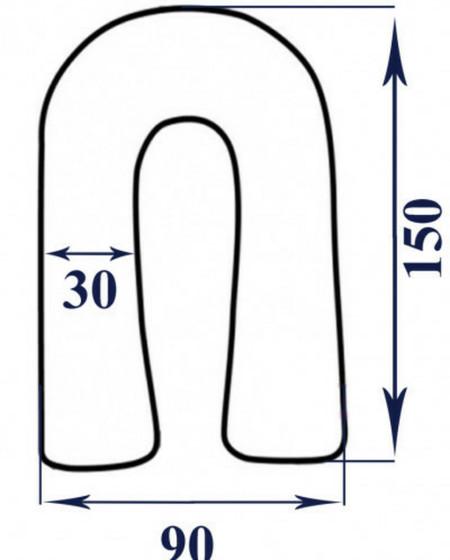 Выкройка наволочки подушки для беременных 81