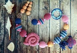 Слингобусы ручной работы, жевательные бусы из пищевого силикона