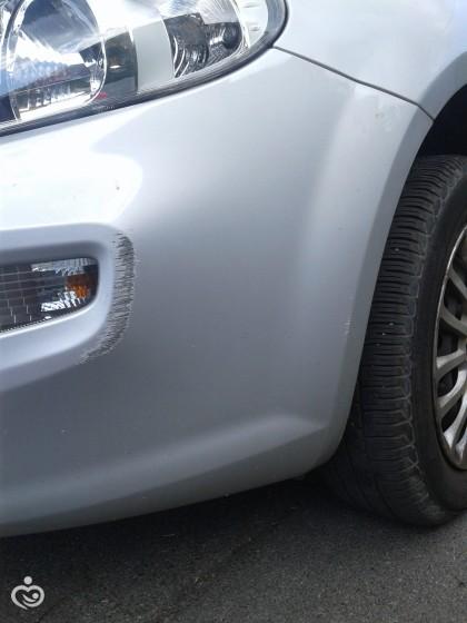 Расцарапала машину
