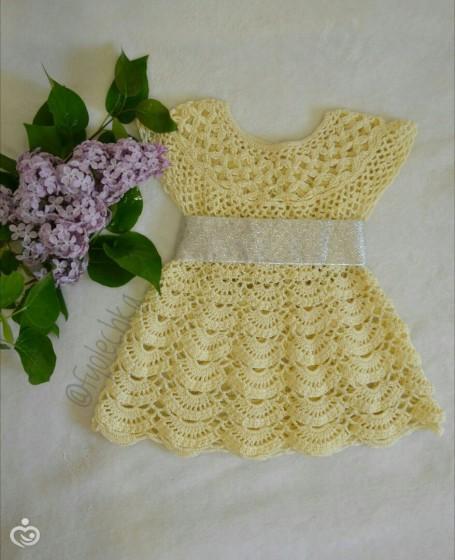 Ажурное платье для принцессы!