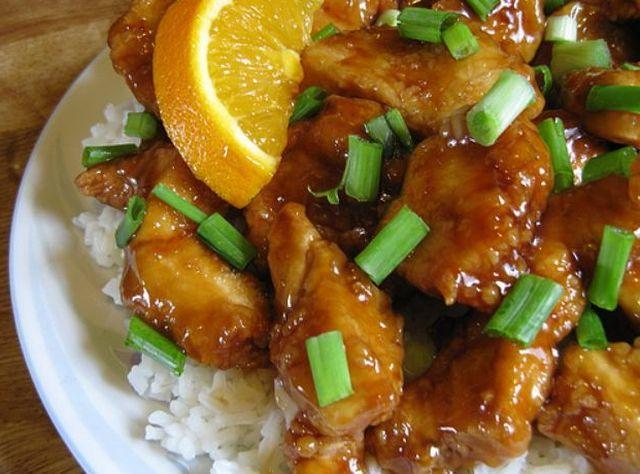 Рецепт 5. Курица в соевом соусе с апельсинами