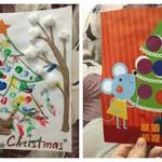 Сделали открытки родным с дочкой)
