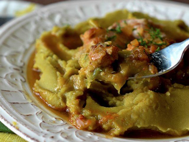 Блюда из горохового пюре