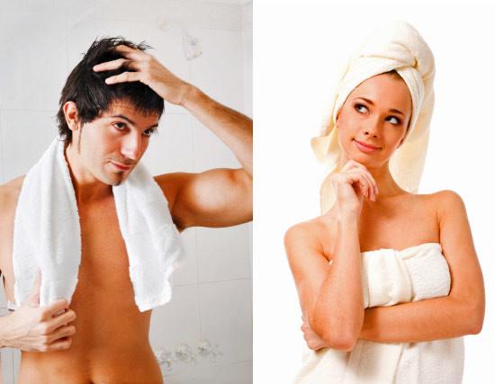 Отличие мужчин и женщин при приеме душа