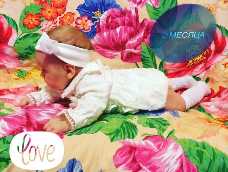 Текст открытку, открытки с 2 месяцами девочке фото